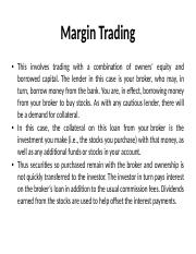 MARGIN TRADING PPT