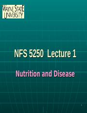 1Nutrition and Disease