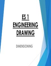 Lecture 14 - Dimensioning