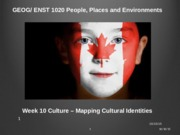 Week 10 Culture and Identity 2015