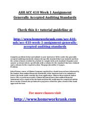 ASH ACC 410 Week 1 Assignment Generally Accepted Auditing Standards.doc