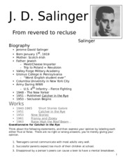 catcher in the rye study guide megapacket