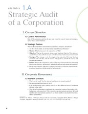 strategic audit of a corporation Apple, inc strategic audit topics: apple inc this strategic audit of apple analyses the company's strategy formulation, implementation, and evaluation.