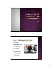 Chapter 14 - Communicating Effectively in Organizations