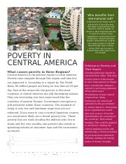 Poverty In central america.docx