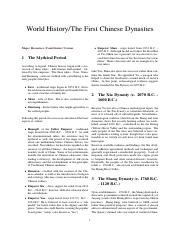 World History%2FThe First Chinese Dynasties