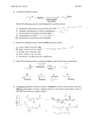 CHEM 266 Term Test 2 Fall 2014answers