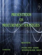 Procurement Strategies (1)