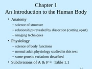 Tortora - Chapter 1 - An Introduction to the Human Body