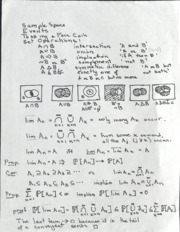 Probability Theory: Midterm Review Sheet