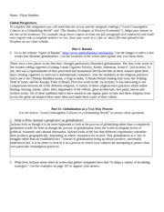Week 2 - WORKSHEET - Global Perspectives