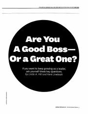 Are You a Good Boss or a Great One