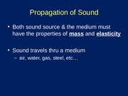 Sound Propagation Transmission Lecture
