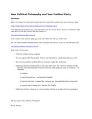 W3 Discussion Your Political Philosophy and Your Political Party