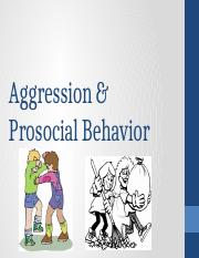Week 12, Social Psychology, Agression & Prosocial Behavior-2