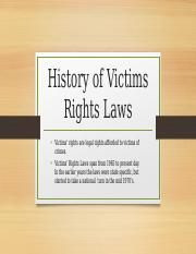 Assignment 11.2 history of victims rights