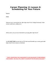 Career Planning 11 Lesson 6 - Scheduling.docx