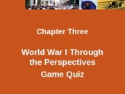 WWI in-class game quiz