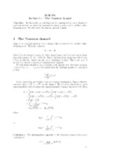 Lecture 10 { The Gaussian channel
