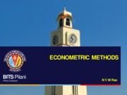 5) ECONOMETRICMETHODS L4