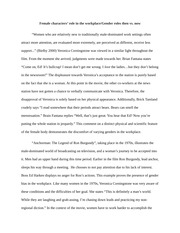 gender roles essay final draft anchorman women and men in the  3 pages female gender bias essay