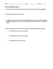 Gas Chromatography Questions