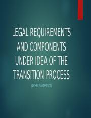 LEGAL REQUIREMENTS AND COMPONENTS UNDER IDEA OF THE Anderson.pptx