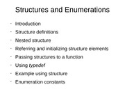 Structures and Enumerations