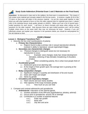 Psych 412 Final Exam Study Guide