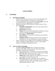 Lecture 5 Outline