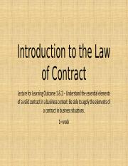 (1) Essential Elements of a Valid Contract