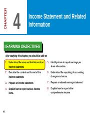 Ch04 ppt Income Statement, Retained Earings_ EPS