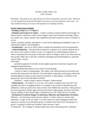 Unit Two Exam Study Guide anthro