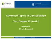 Advanced Topics in Consolidation(2)