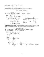 Math 1300 solutions Midterm 2