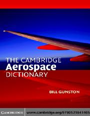 The Cambridge Aerospace Dictionary - 2004