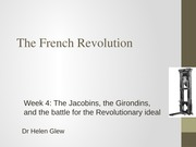 French Revolution Lecture Week 5 Slides