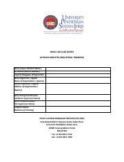1 Laporan Catatan Harian Dan Mingguan Pdf Buku Log Log Book Latihan Industri Industrial Training Nama Pelajar Student Name No Matrik Matrix Number Course Hero