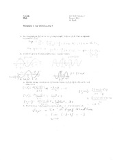 Worksheet 1 Solution on Calculus 1