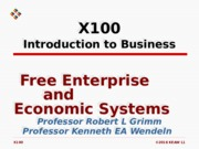 L01 Free Enterprise & Economic Systems