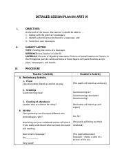 Grade 5 Art Detailed Lesson Plan..docx