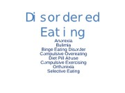 201 Class 18 notes Eating Disorders