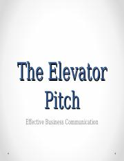 Elevator+Pitch+Notes++Assignments+-+Aug+2014-2.ppt