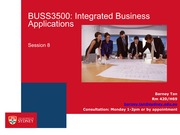 BUSS3500 Session 8