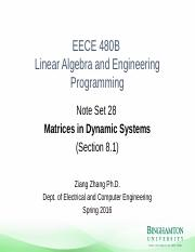 Note_Set_28 - Matrix in dynamic systems