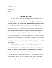 the things they carried outline essay thesis statement  4 pages the things they carried essay