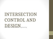 INTERSECTION CONTROL AND DESIGN