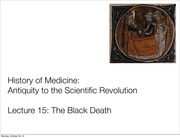 AS.140.105 Lecture 15 Black Death