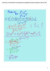 Derivatives of exponential and logarithmic functions