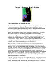 Purple Hibiscus Study Guide For Students Purple Hibiscus Study